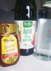 Apfelessig, Honig, Wasser, Apfelessig Kur