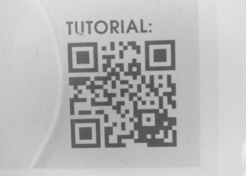 barcode zum tutorial video - gesichtsmaske