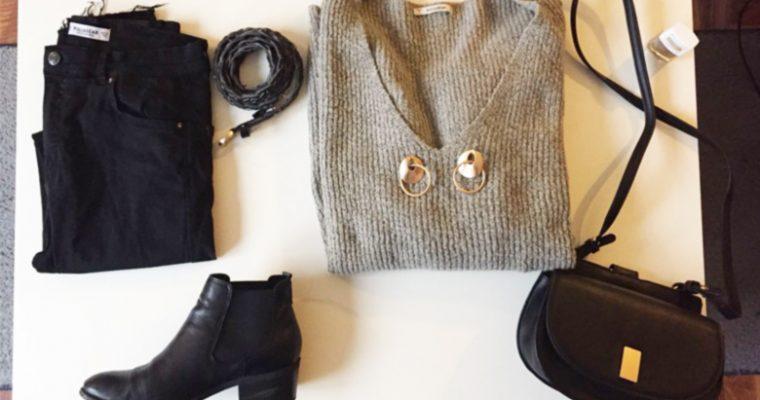 Mein Style für die kälteren Tage | Grau, Schwarz, Gold Outfit