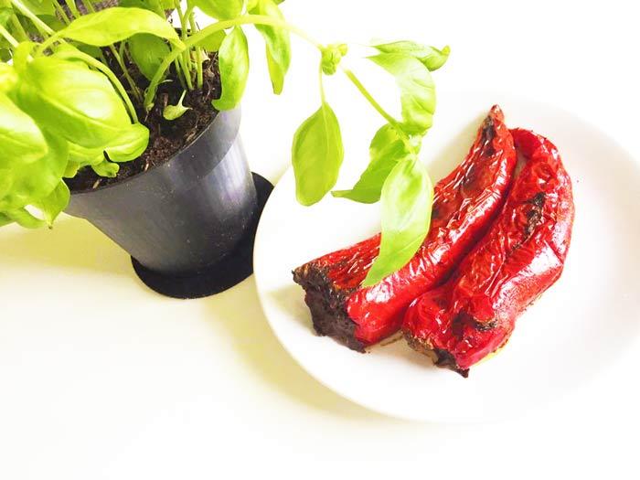 gefüllte Paprika mit Basilikum