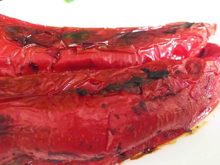 gefüllte Paprika in der Nahaufnahme